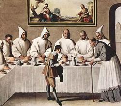 Св. Гуго в трапезной (Сурбаран)