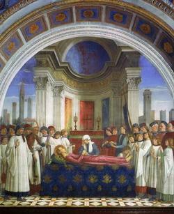Погребение святой Фины (Доменико Гирландайо)