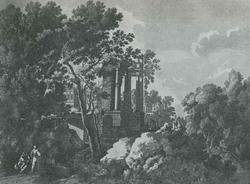 Пейзаж с руинами (А. Перрель)