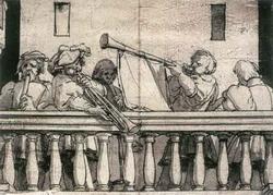 Музыканты на балконе (Ганс Гольбейн-Младший)