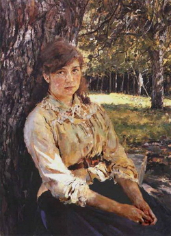 Портрет девушки (В.А. Серов)
