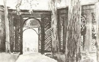 Беседка в Павловске. 1902 г.