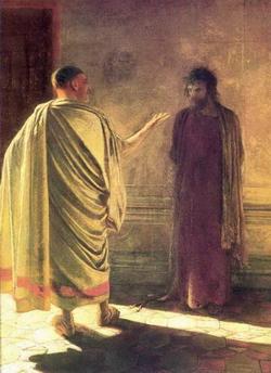 Что есть истина? Христос и Пилат (Ге Н.Н., 1890)