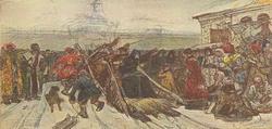 Боярыня Морозова (В.И. Суриков, эскиз композиции картины 1887 года)