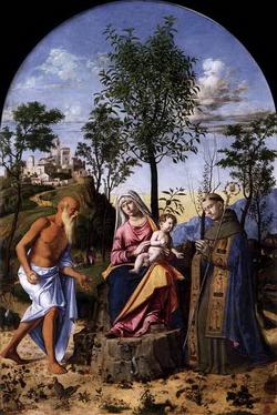 Мадонна с младенцем и святыми (Когнелиано да Сима)