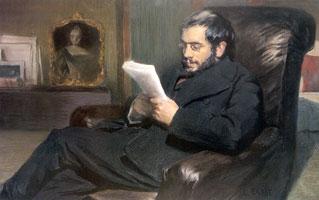 А.Н. Бенуа. (Л.С. Бакст, 1898 г.)