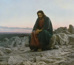 Христос в пустыне (Крамской И.Н., 1872)