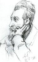 Портрет С.Н. Тройницкого, директор Эрмитажа. 1907 г.