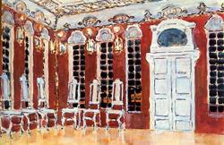 Площадь перед Зимним дворцом (А.Я. Головин, эскиз декорации к опере Ледяной дом, 1900)