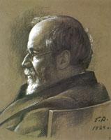 А.Н. Бенуа. (Г.С. Верейский, 1924 г.)