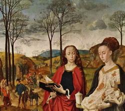 Пейзаж на правой створке алтаря Портинари (Гуго ван-дер Гус, ок. 1470 г.)
