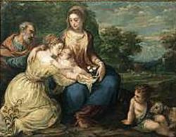 Святое семейство со святой Екатериной и Иоанном