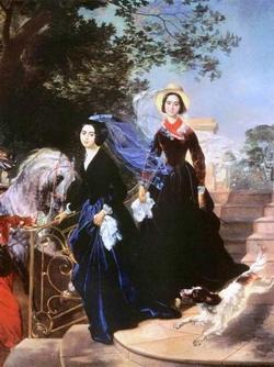 Портрет сестер Шишмаревых (Брюллов К.П., 1839 г.)