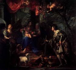 Святое Семейство со св. Людовиком (Клаудио Коэльо)