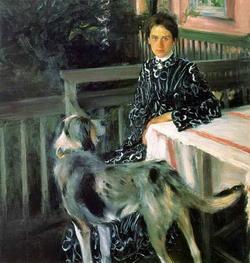 Женский портрет (Б. Кустодиев)