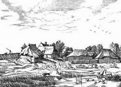 Пейзаж из серии, изданной в 1561 году (И. Брейгель-Старший)