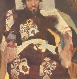 Боярин (М.А. Врубель, неоконч. этюд)