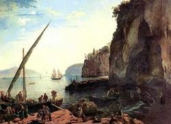 Малая гавань в Сорренто (С. Щедрин, 1826 г.)