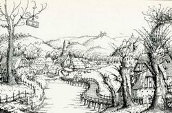 Пейзаж с мостом (Августин Гиршфогель)