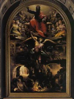 Бой святого Михала Архангела с дьяволом (Д. Бекафуми)