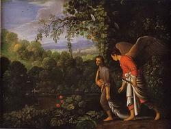 Сын Товия с Ангелом (Адам Эльсгеймер)