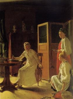 Утро помещицы (А.Г. Венецианов, 1823 г.)
