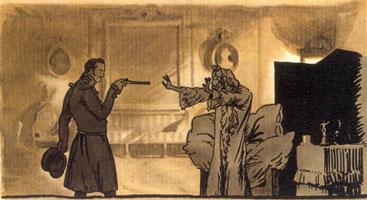Германн угрожает графине пистолетом. 1911 г.